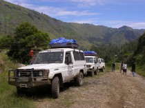 BRC cars on the way to Kegesugl Village