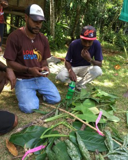 Byron Siki with his plant samples.