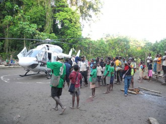 ...and a more comfortable transport option with Heli Niugini