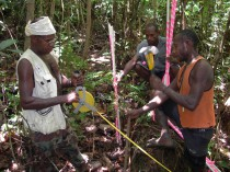 ...and the local botany team getting ready for a forest survey.