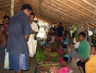 With improved income opportunities, there is also a new village Sunday market.
