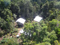 The station from the air – low impact construction in pristine forest.