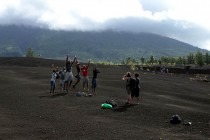 Enjoying themselves on ash fields of the Manam volcano.